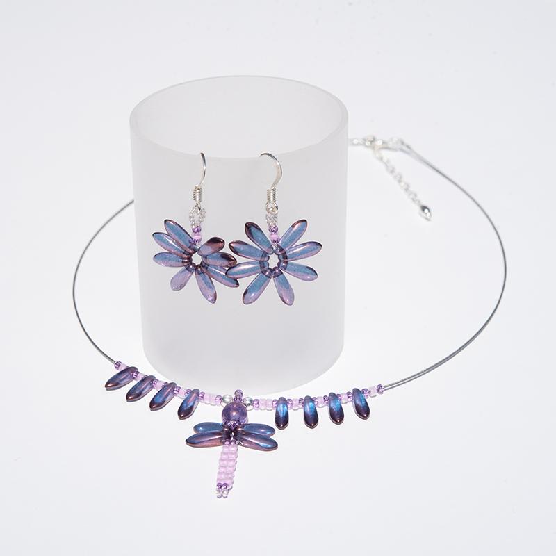 Sweet Lavender Dragonfly pendant