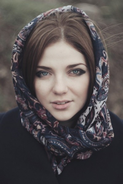 lady wearing head scarf