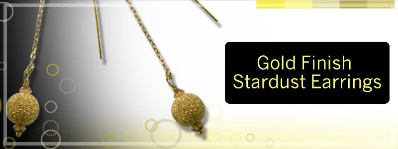 .925 Gold Finish Stardust Earrings