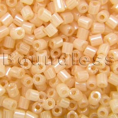 Preciosa Czech glass unica beige cream seed bead 1.6mm Pearl or Shell precision cut tubes