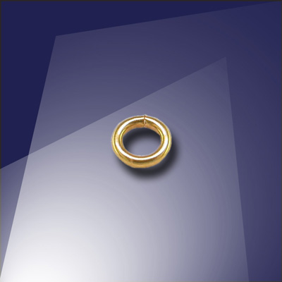.925 Gold Finish Sterling Silver 0.77 x 3mm Mini Jump Ring - Retail System