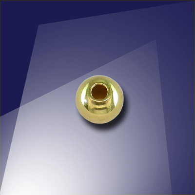 .925 Gold Finish Sterling Silver 5mm Round Spacer Bead with a 1.5mm Hole - Retail system