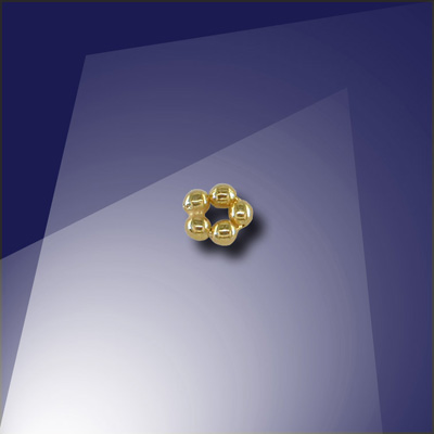 .925 Gold Finish Sterling Silver 1.2mm Penta Bead - Retail system