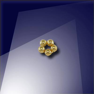 .925 Gold Finish Sterling Silver1.5mm Penta Bead - Retail system
