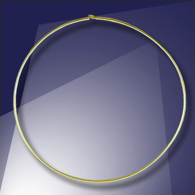 .925 Gold Finish Sterling Silver Add-a-Bead  40mm diameter Hoop