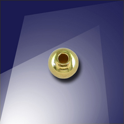 .925 Gold Finish Sterling Silver 5mm Round Spacer Bead with a 1.5mm Hole