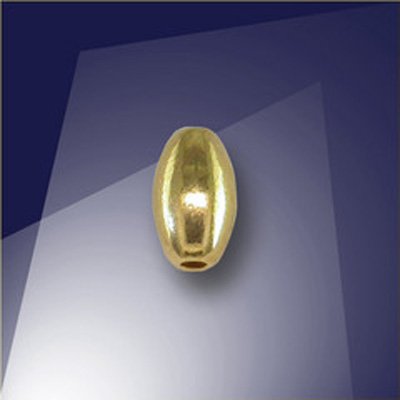.925 Gold Finish Sterling Silver 4 x 6.85mm Oval with a 1.5mm Hole
