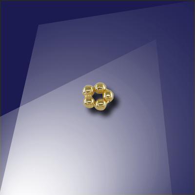 .925 Gold Finish 1.2mm Penta Bead