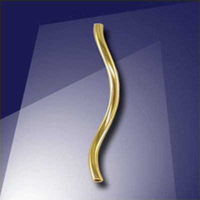 .925 Gold Finish Sterling Silver 17.5x1mm Twisty Tube
