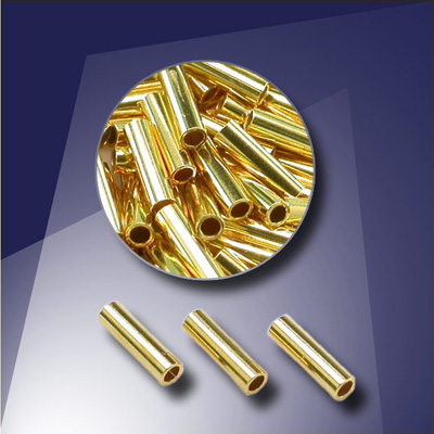 .925 Gold Finish Sterling Silver 4x1mm Tube