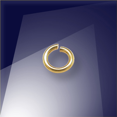 .925 Gold Finish Sterling Silver 0.76 x 4.5mm jump ring