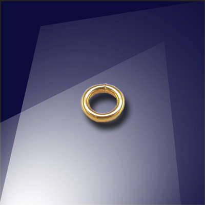 .925 Gold Finish Sterling Silver 0.77 x 3mm Mini Jump Ring