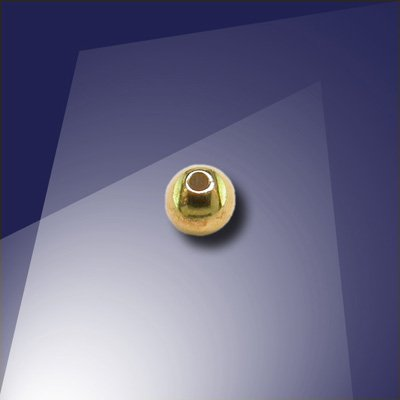 .925 Gold Finish Sterling Silver 3mm Spacer Bead with a 0.9mm Hole
