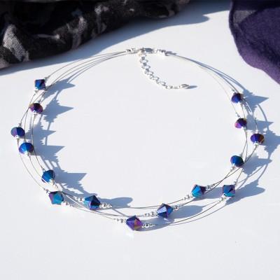 3-Strand Crystal Necklace with Swarovski® Crystal