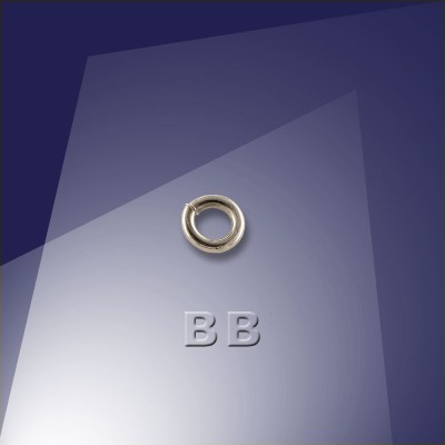 .925 Black Finish Sterling Silver 0.77 x 3mm Mini Jump Ring