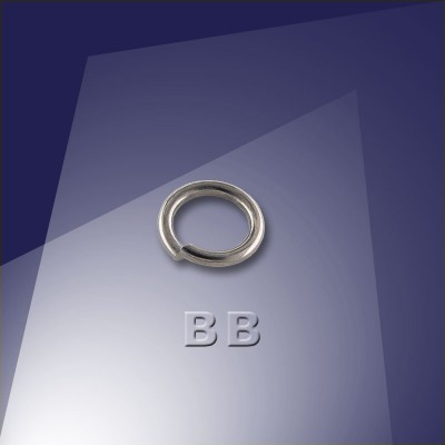 .925 Black Finish Sterling Silver 0.89 x 5.8mm jumpring