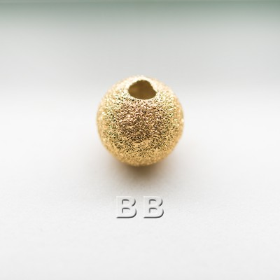 .925 Gold Finish Sterling Silver 6mm Stardust Beads with 1.5mm Hole - Retail system