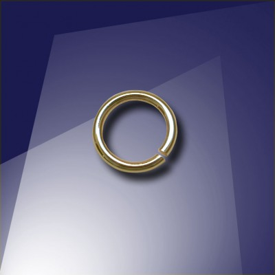 .925 Gold Finish Sterling Silver 0.89 x 5.8mm jump ring