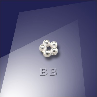 .925 Silver 1.5mm Penta Bead - Retail system