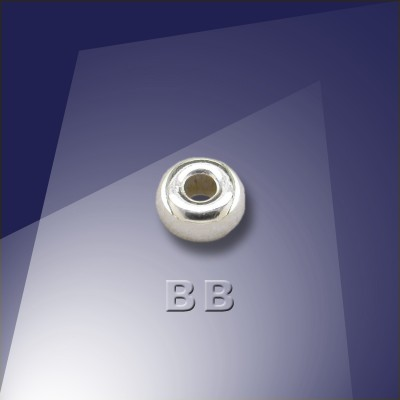 .925 Silver 4mm Roundel with a 1.8mm Hole - Retail system