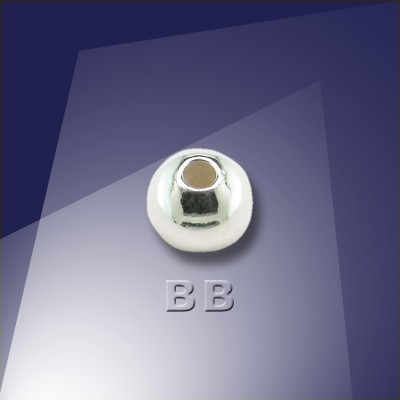 .925 Silver 5mm Round Spacer Bead with a 1.5mm Hole - Retail system