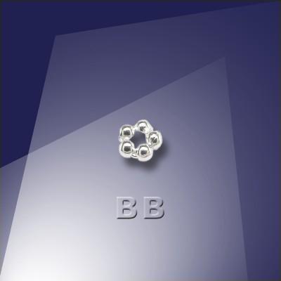 .925 Sterling Silver 1.2mm Penta Bead