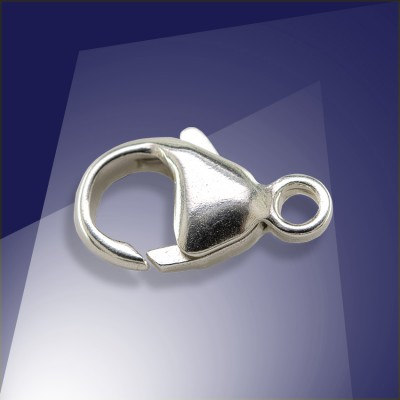 .925 Sterling Silver 13.1mm Oval Trigger Clasp