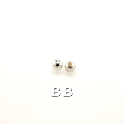 .925 Sterling Silver 2.5 mm seamless Spacer Bead with a 0.9mm Hole
