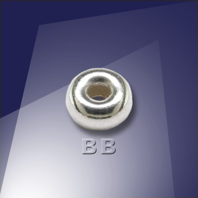 .925 Sterling Silver 6mm Roundel with a 2.4mm hole