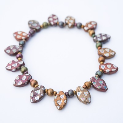 Autumnal Fairy Leaf Bracelet