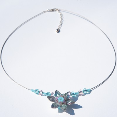 Azore Flower Glass Bead Necklace