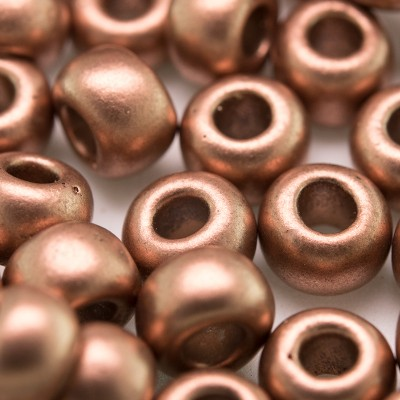 Brushed Copper Metallic size 32/0 seed beads - Retail system