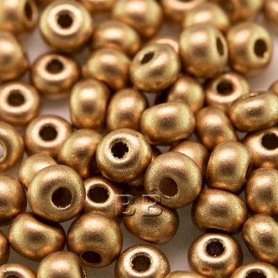 Brushed Gold Metallic size 5/0 seed beads - Retail system