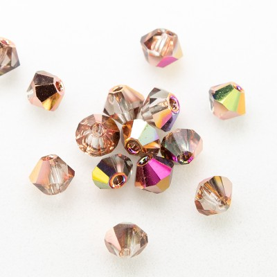 Czech Crystal Bohemica Bicone Bead 3mm Crystal (001) Mixed Copper