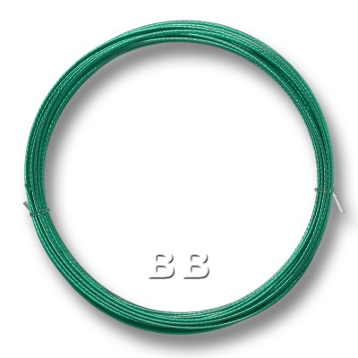 "Emerald coloured, nylon coated 0.45mm/.018"" Dia.7x1 Tigertail"