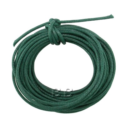Emerald Polished Cotton Cord 1.00mm Dia