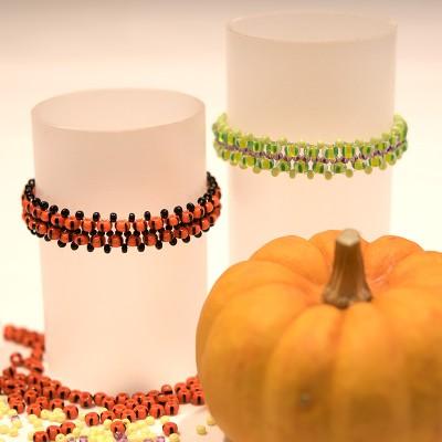 FREE Stretchy 'Pumpkin' and 'Devil's Slime' bracelet instructions