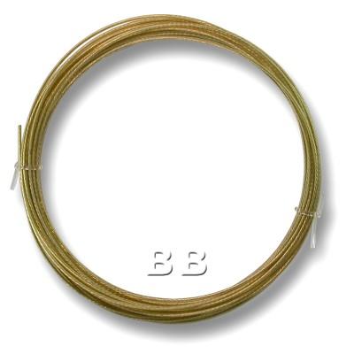 "Light Bronze coloured, nylon coated 0.45mm/.018"" Dia.7x1 Tigertail"