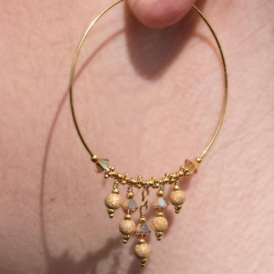 Mini Studio - Add-A-Bead Gold Crystal Earring Kit