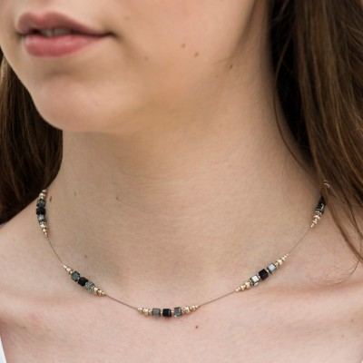 Mini Studio - Crystal Indigo Cube Necklace Bead Kit