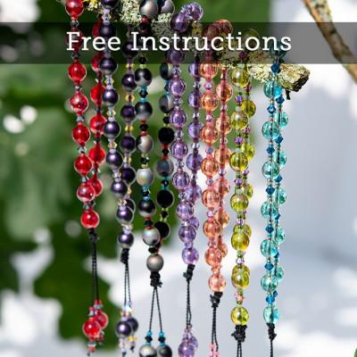 Mini Studio –  Easy Miniature Macramé knot Bracelet Design 6mm Czech Round Druk Beads,  FREE Instructions