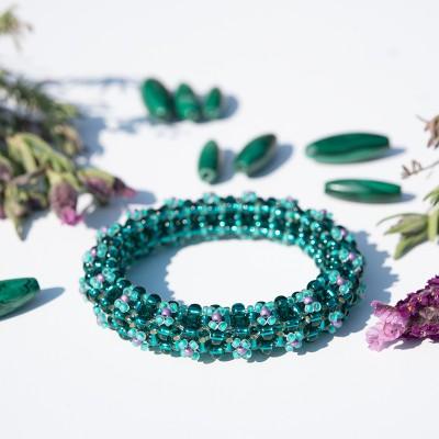 Mini Studio - Floris Bangle Bead Kit – Green Grecian Goddess