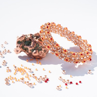 Mini Studio - Floris Bangle Bead Kit - Woodland Copper
