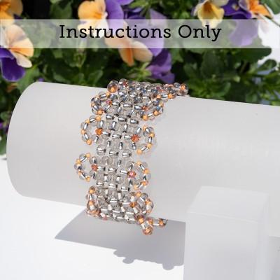 Mini Studio - Lacy Steely Spirit Stretchy Bracelet with Preciosa Seed Beads & Swarovski Crystal