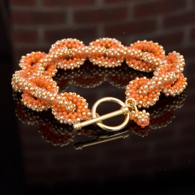 Mini Studio - Golden Orange Bracelet Chain Bead Kit