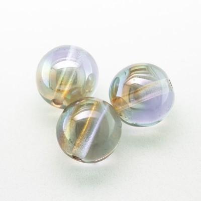 Misty Lilac 8mm round Czech glass druk beads