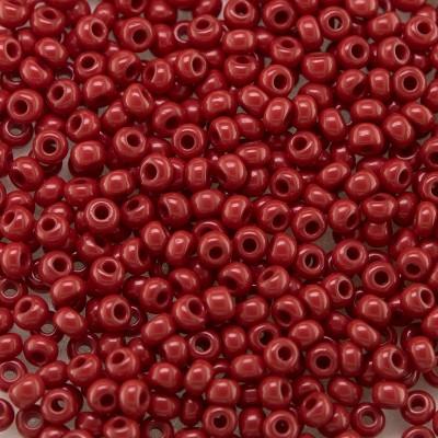 Preciosa 100 Gms Czech glass seed bead 11/0 Biking Red opaque