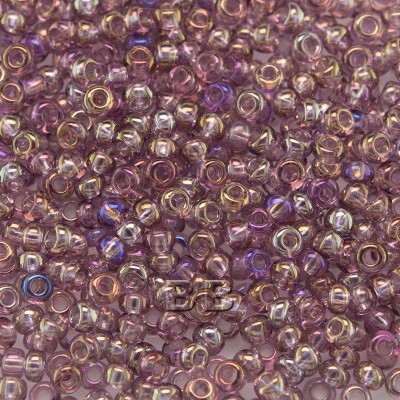 Preciosa 100 Gms Czech glass seed bead 11/0 Purple transparent rainbow