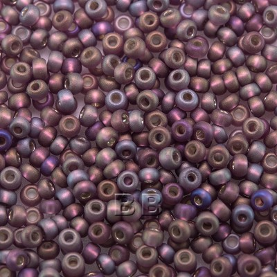 Preciosa 100 Gms Czech glass seed bead 11/0 Mauve Shadows, Silver lined matt and rainbow