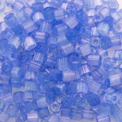 Preciosa Czech glass seed bead, 2-cut, size 9/0 Pale Blue coated